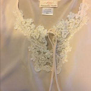 Other - Palest Pink and White Pearls Lingerie